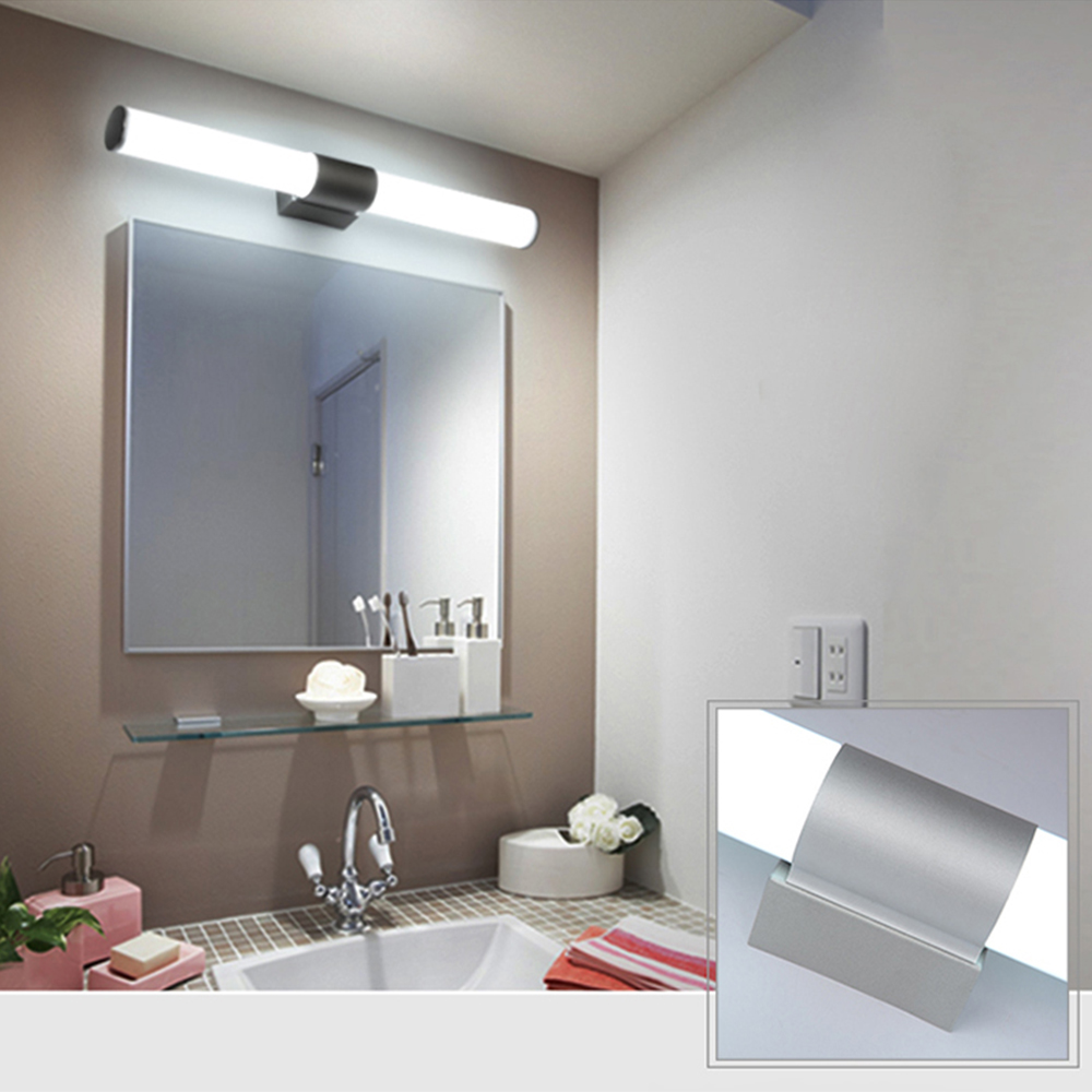Front Mirror Lamp AC85-265V Tube Light Waterproof Bathroom Vanity Livingroom Decoration Wall Night Light