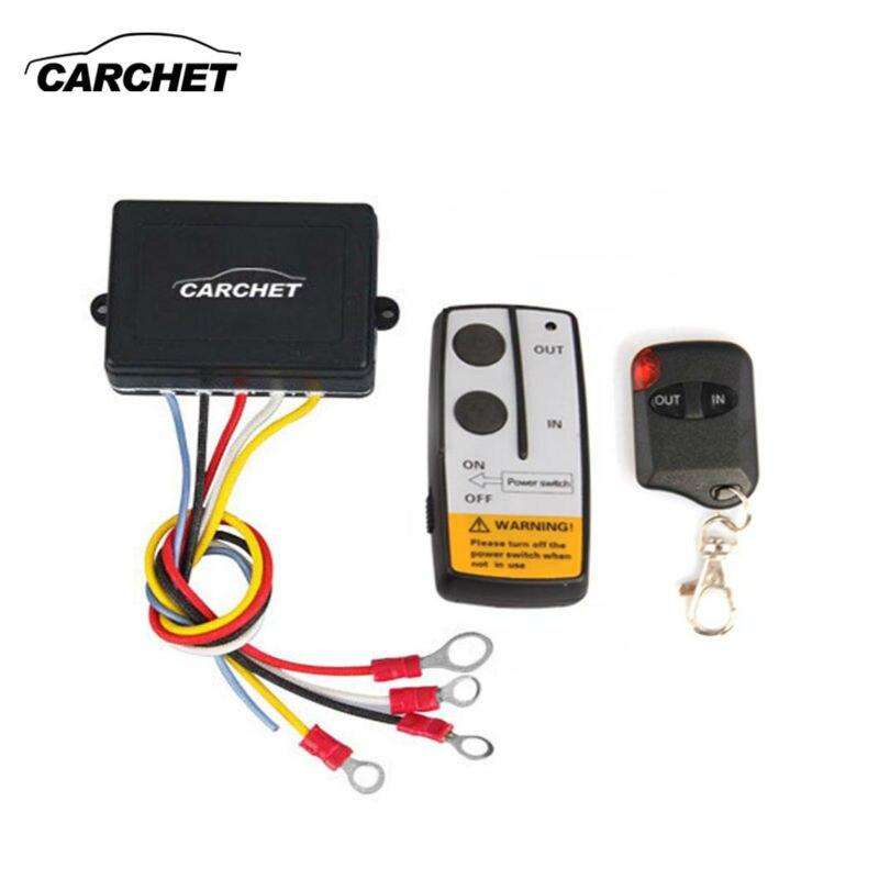 imágenes para CARCHET 12 V Winch 50ft Inteligente Interruptor de Control Remoto Inalámbrico Conjunto E indicador de luz Para Jeep Truck ATV Universal NEW2017 PROMOCIÓN