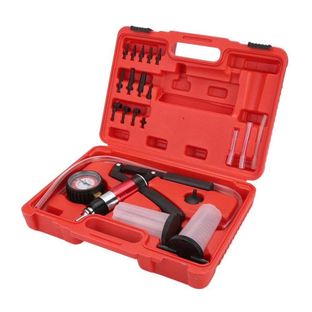 Car Auto Hand Held Vacuum Pump Brake Bleed Bleeder Set Bleed Fluid Reservoir Tester Tool Kit Diagnostic Garage Tools цена