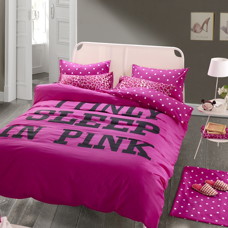 Rose red pink bedding queen size duvet cover flat sheet with sexy leopard  print girls. Girls Queen Bedding   makitaserviciopanama com