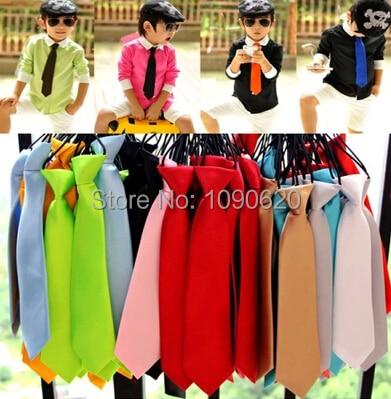 Aufstrebend Freies Verschiffen 25 Farben Studenten Krawatte Kinder Normallack Krawatte Für Cool Boy Leistung Accessorieas Jungen Krawatte Bekleidung Zubehör