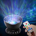 Amazing Romantic Ocean Projector Night Light With Music Holiday Party Colorful Sky Starry LED Night Light USB Lamp For Kids