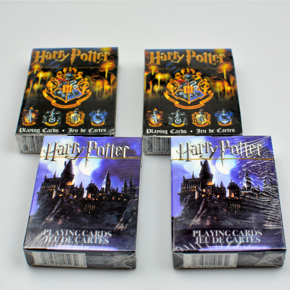 Movie Cards Harry Potter Playing Game Cards Hogwarts House Collection Badges Symbols Castle Crests 2 Patterns Fun Kid Toy Gift