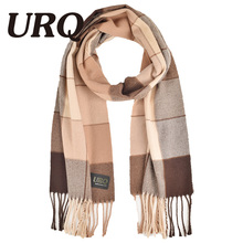 tartan winter men scarf plaid warm tassel knitted unisex soft warm scarves imitation cashmere winter scarves 2016 hot sale