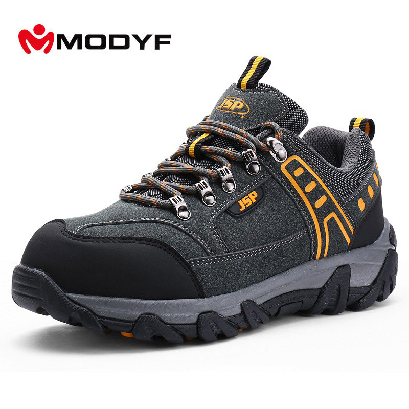 MODYF Men Steel Toe Safety Work Shoes Casual Breathable Outdoor Sneaker Boots Puncture Proof Protection Footwear free shipping men color steel toe cap work safety shoes mesh casual breathable hiking boots puncture proof protection footware