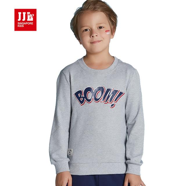 Meninos camisola letra grande impressão meninos pullover 2016 nova queda crianças varejo tops marca crianças roupas de inverno quente crianças assentamento