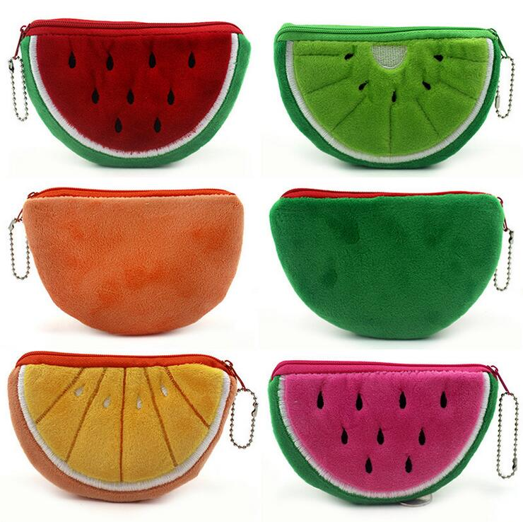 1Pcs Cute Fruit Coin Purse Wallet Pouch Case Bag Women Lady Bags Pouch Beauty Holder Handbag