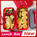 3 colour Big double Japan Bento Lunch Box For Kids Lunchbox Food Container Thermos Bento Box Sushi Container Tableware marmita