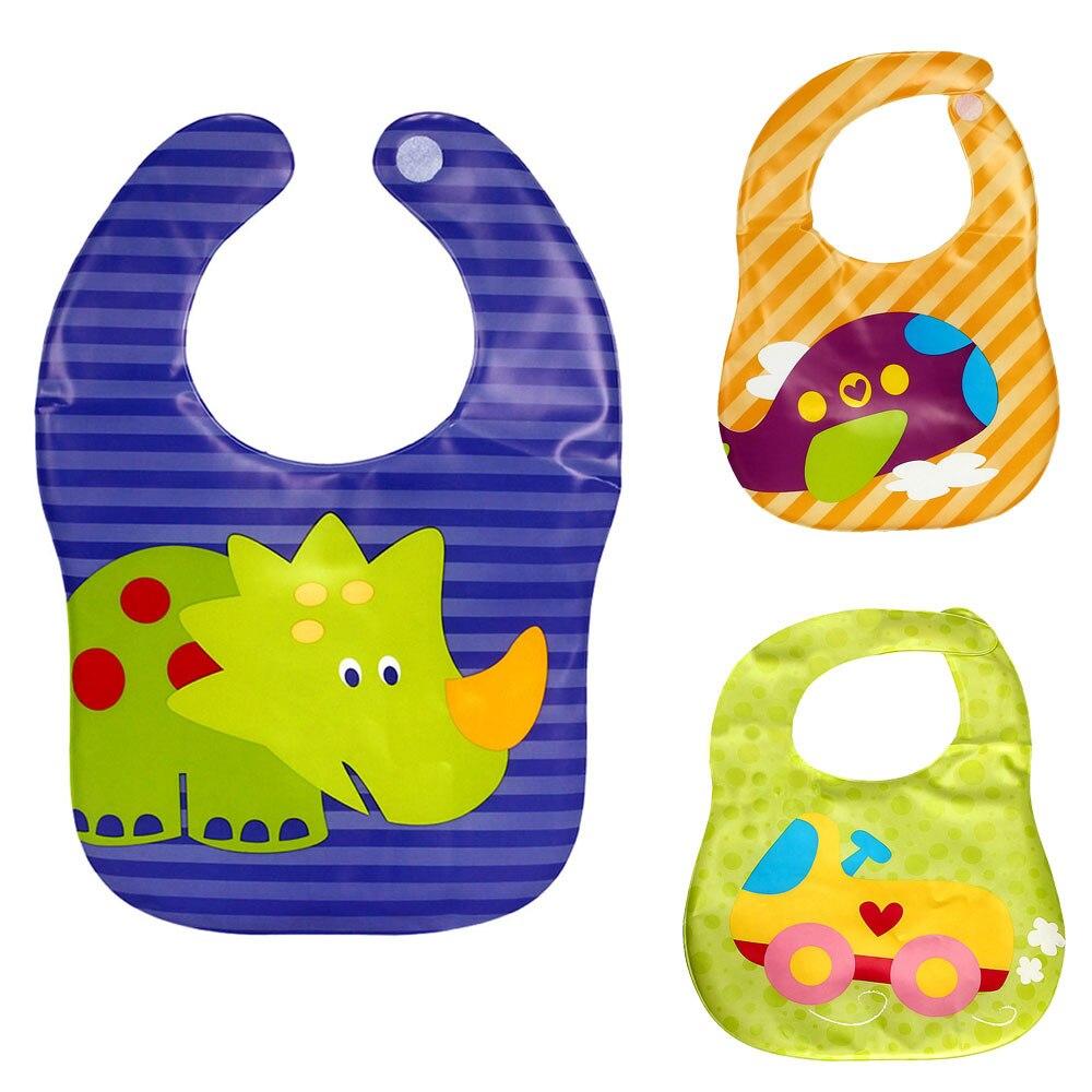 New Kids Child Translucent Plastic Soft Baby Waterproof Bibs EVA OCT2