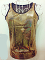 2016 new gold silver vest male ds slim vest male fashion male costume show ds dance singer dancer party performance nightclub