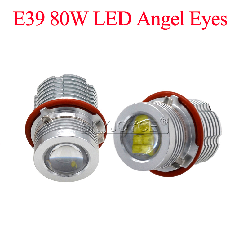 Car Styling E39 LED Angel Eyes 80W 6500K White DRL Hole Ring For E39 E61 E63