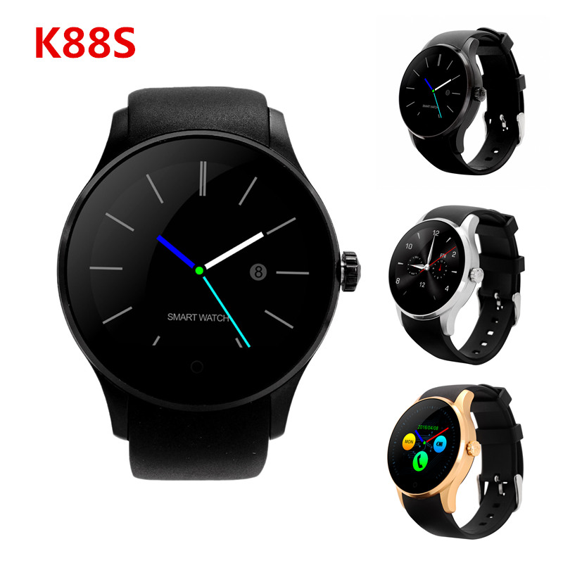 GOLDENSPIKEBluetooth Smartwatch K88S Smart Watches Heart Rate Monitor Clock Phone for iOS Android Support Remote Camera SIRI SIM английский язык 8 класс контрольные работы фгос
