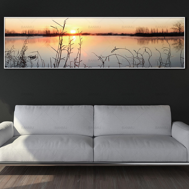Art wall picture canvas painting art print landscape on canvas and posters  no frame wall art picture decoration for living room