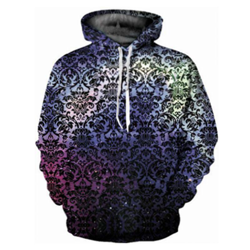 CFYH 2018 brand fashion Geometric starry sky 3D printed hooded hoodies men/women drawstring hoodies pullover sweatshirt
