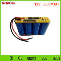 10pcs/lot 12v 3300mah Power bank Lifepo4 lithium battery pack with PCB/PCM protect
