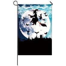 Halloween Garden FlagHome Decor Flags Happy Festival Household Hanging Flag