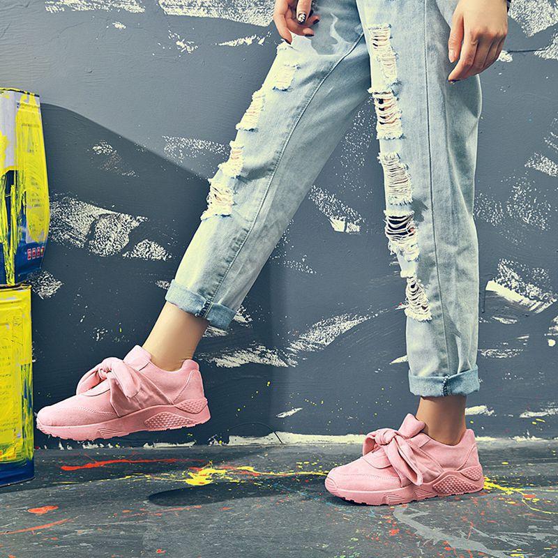 Chaussures Noir slip Non gris Résistant Plates Sneakers À Simples L'usure De Sauvage Automne Nouveau Occident Mode Taille Grande rose Style Femmes Décontractées CHx7HwBXq