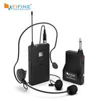 Fifine 20-Canale UHF1/4 Pollici di Uscita lavalier microfono della cuffia del microfono K037B