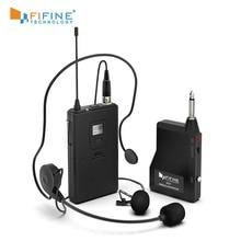 Fifine 20 チャンネルUHF1/4 インチラベリア & ヘッドセットのmicのスーツで出力ワイヤレスマイクスピーカー携帯電話カメラK037B
