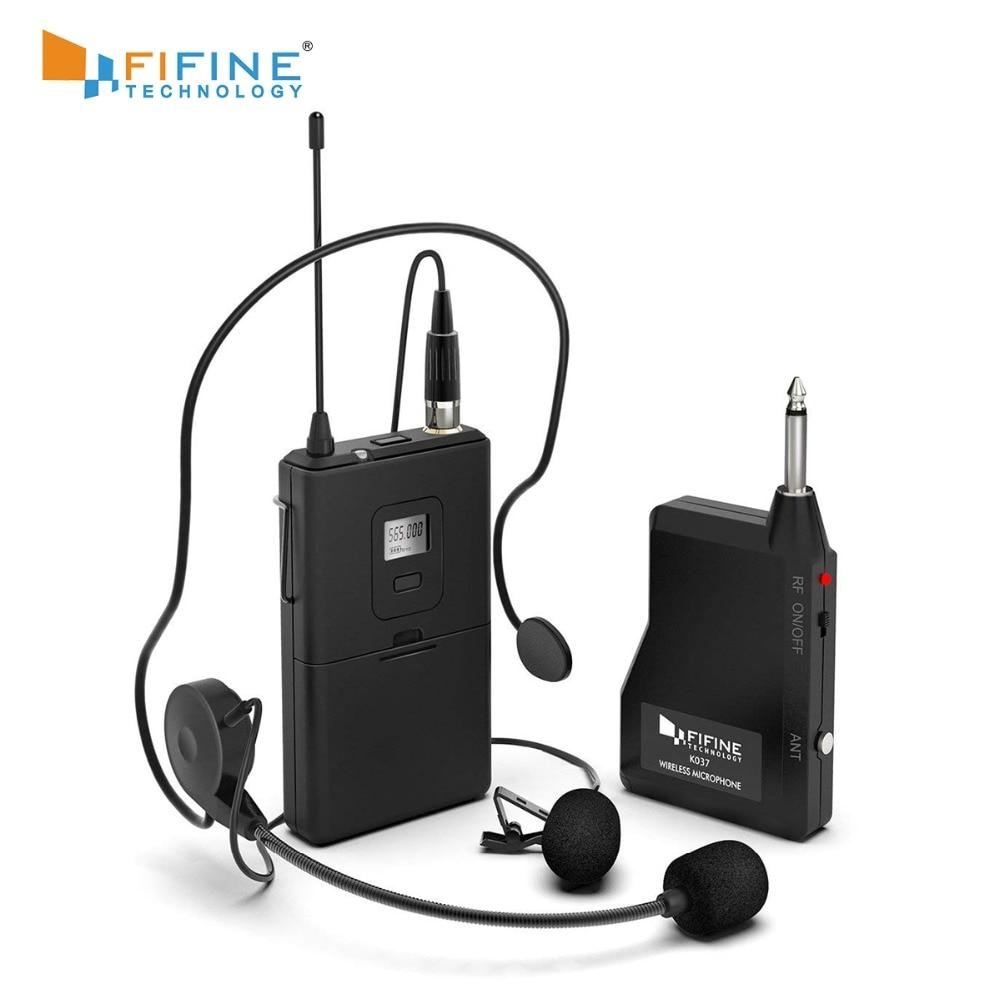 Fifine 20 canaux UHF1/4 pouces sortie microphone de lavalier microphone K037B