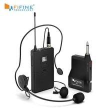 Беспроводной микрофон fifine k037b 20 канальный выход uhf1/4