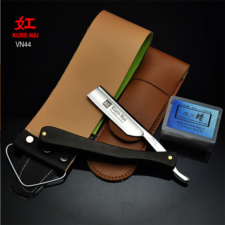 Wholesales Kure Nai VN44 Shave Ready S45C Steel Blade With Wood Handle Folding Wooden Handle Shaving