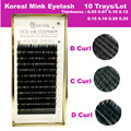 10 Trays/Lot All Size Mink Eyelash Extension 9mm-14mm B C D Individual Eyelash Extension Free Shipping Makeup Tools