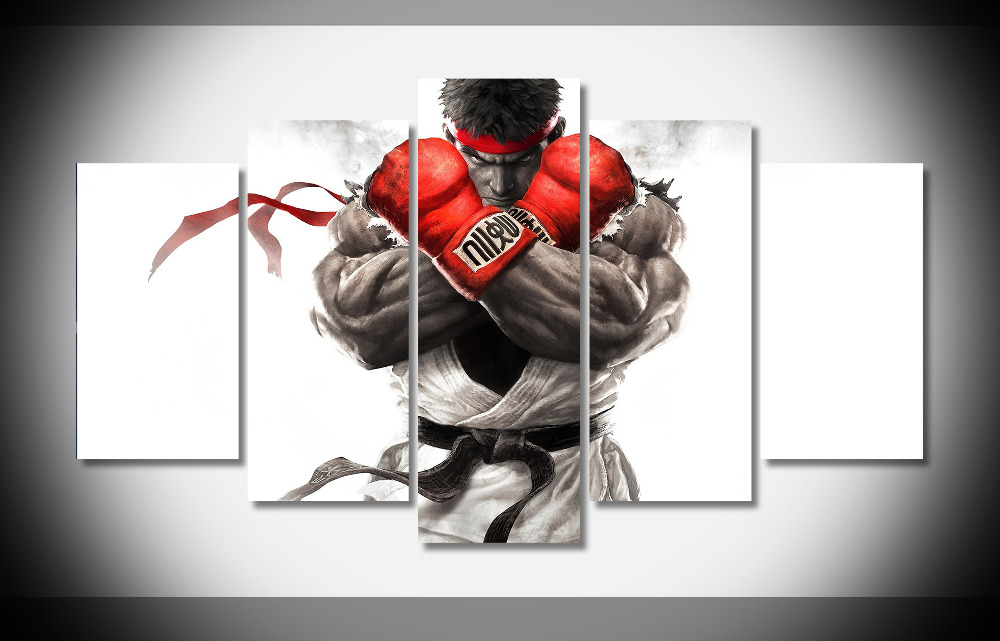 5385 Street Fighter V Game Poster Framed Gallery wrap art print home wall decor wall picture Already to hang digital print