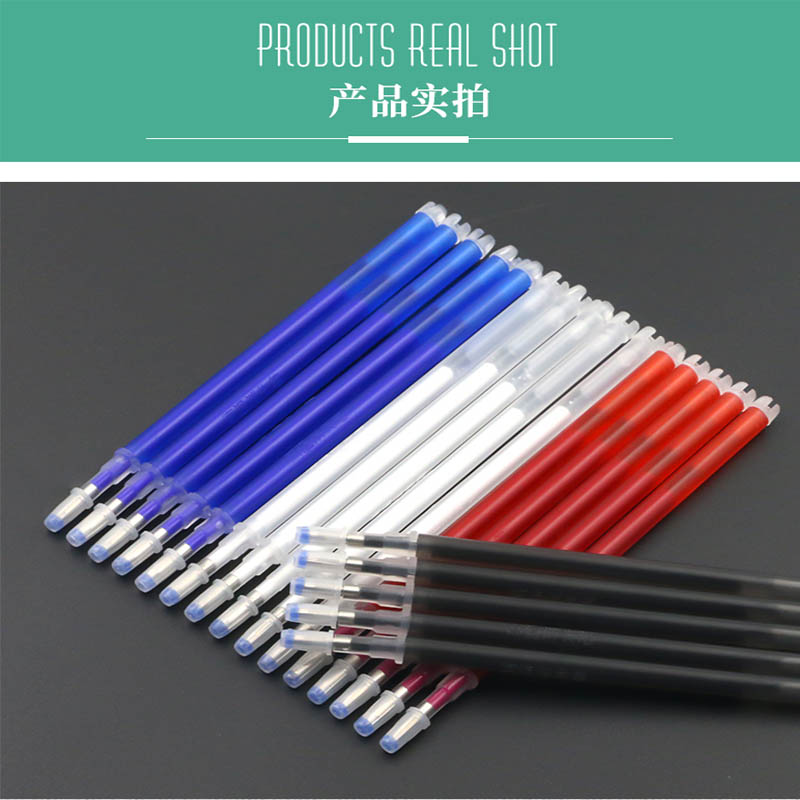 Image 3 - 100pcs High Temperature Vanishing Refill Fabric+PU Cloth Factory Professional Ironing Heating Disappear Refill Office Stationery-in Gel Pens from Office & School Supplies