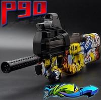 P90 Electric Toy Gun Graffiti Edition Live CS Assault Snipe Weapon Soft Water Bullet Bursts Gun