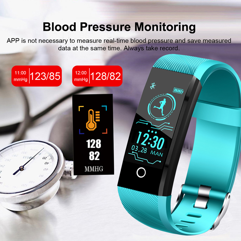 Watches Bangwei New Fitness Smart Bracelet Real-time Heart Rate Monitor Sleep Monitoring Waterproof Watch Men Women Smart Wristband+box Cheap Sales 50%