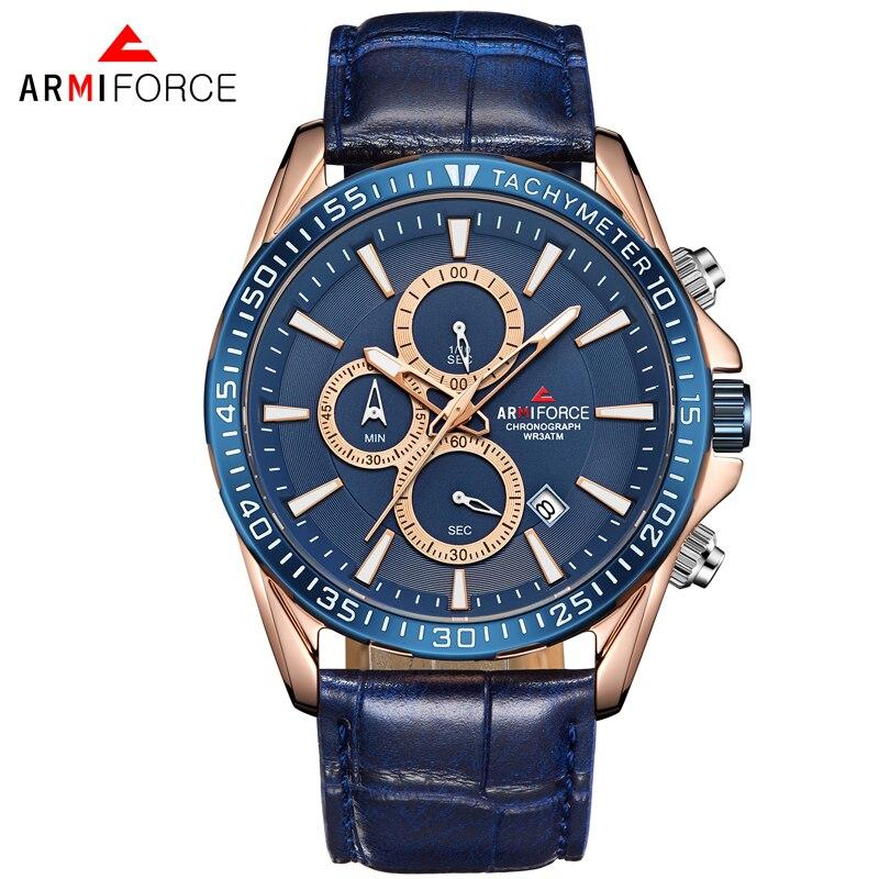 ARMIFORCE Relogio Masculino Хронограф Спортивные Для мужчин часы лучший бренд роскошных военный Дата кварцевые Для мужчин наручные часы Reloj Hombre