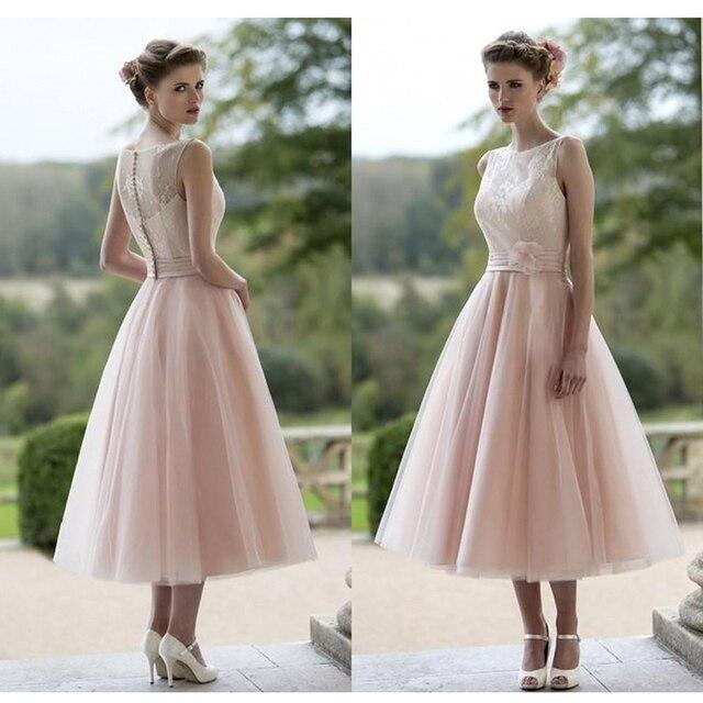 Conhecido Blush Rosa Vestidos De Casamento 2017 Robe De Mariage vestido de  JE49