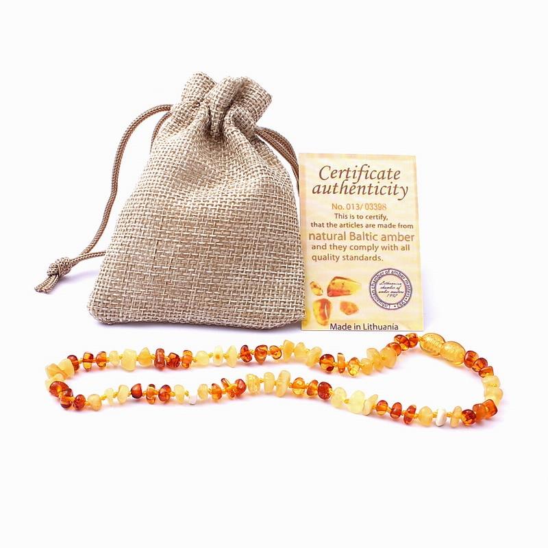 New Arrivals Mom Baby Ambar Jewelry Birthday Gifts Baltic Ambar Beads Genuine Natural Ambar Teething Necklace ...