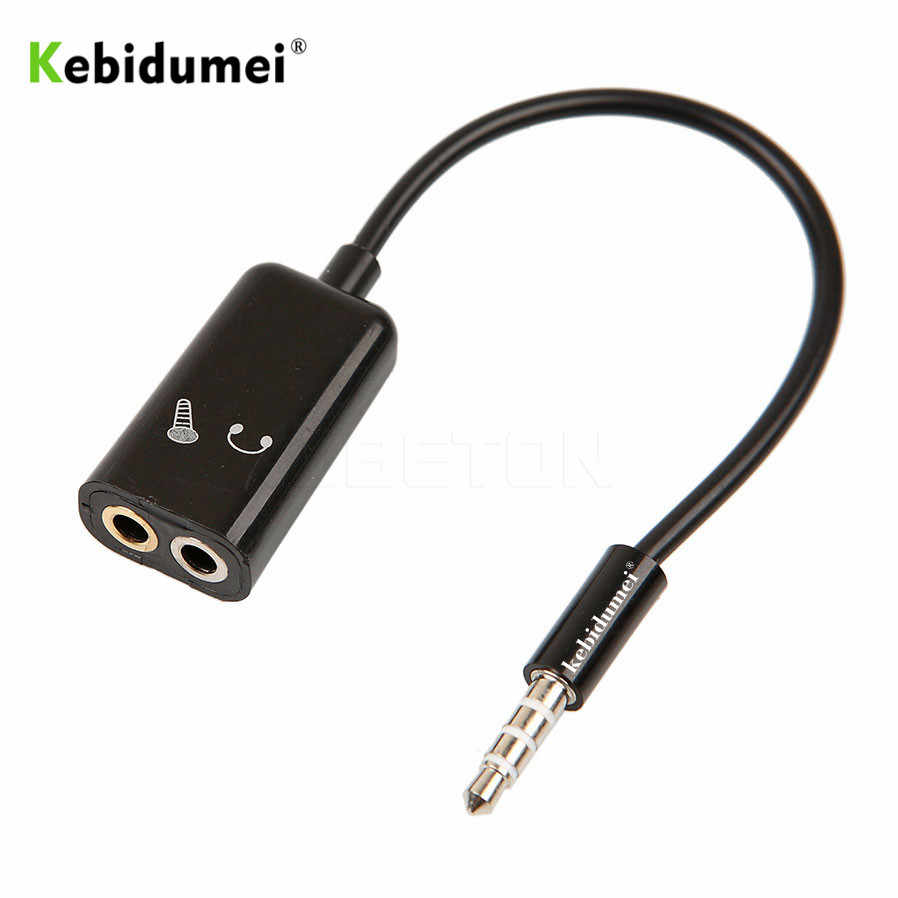 kebidumei 3 5mm stereo splitter audio male to earphone headset microphone adapter couples turn wiring  [ 898 x 898 Pixel ]