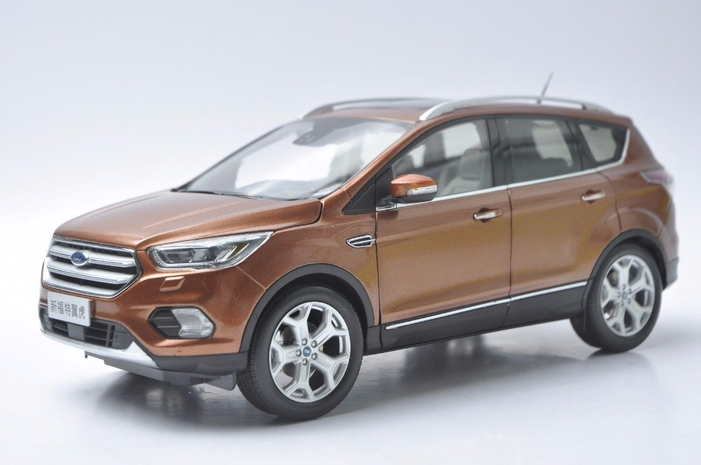 1:18 Diecast Model for Ford Kuga Escape 2017 Brown SUV Alloy Toy Car Miniature Collection Gifts обеденная группа 2