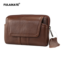 FULAIKATE 6 Genuine Leather Waist Bag For Samsung Galaxy S8 Plus Case Universal Pouch For Note8