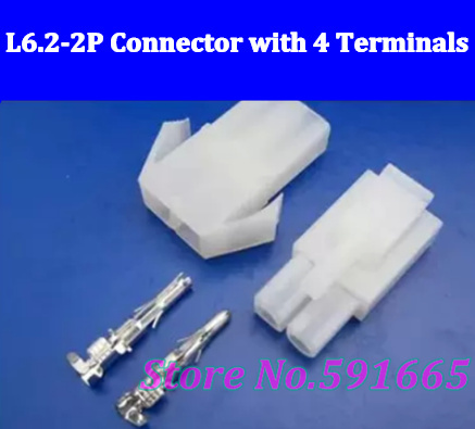 HOT SELL ! L6.2-2P male &female socket plug for car connector with free shipping