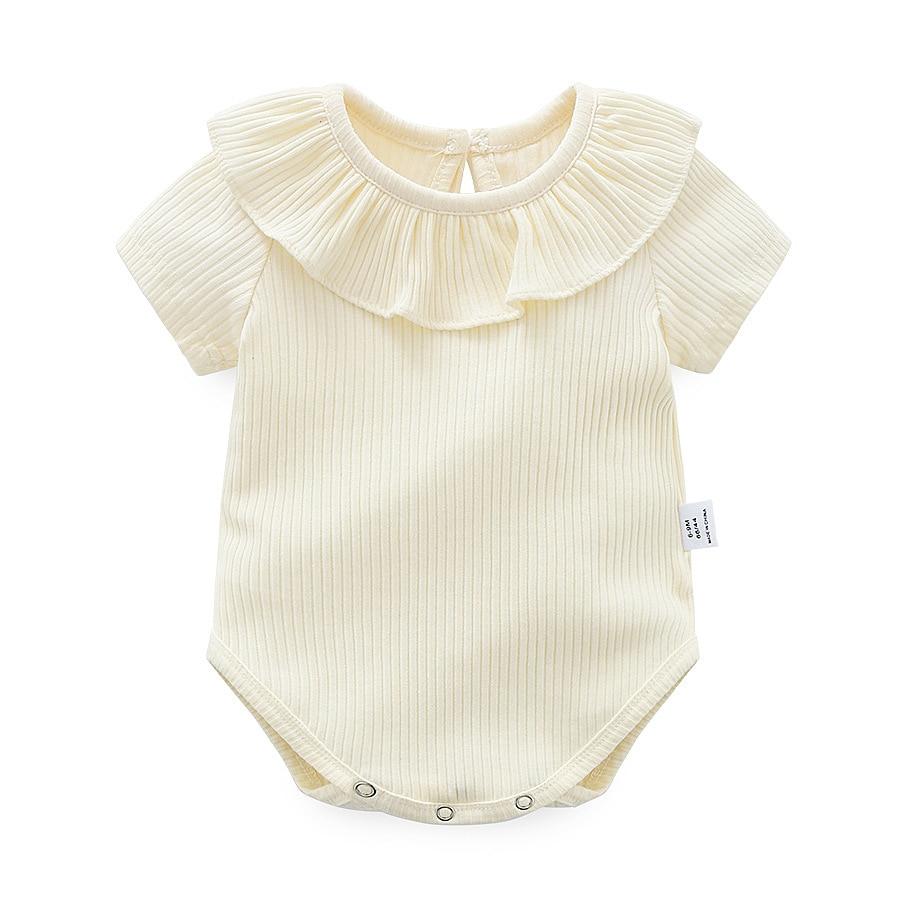 Joyo roy Nieuw artikel Kuil driehoek Rompertjes Baby meisjes Effen - Babykleding - Foto 2