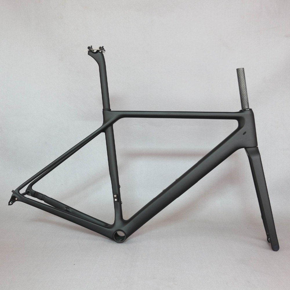 2019 NEW 700C Carbon Flat Mount Disc Brake Road Bike Frame Bicycle Frameset Axle thru New