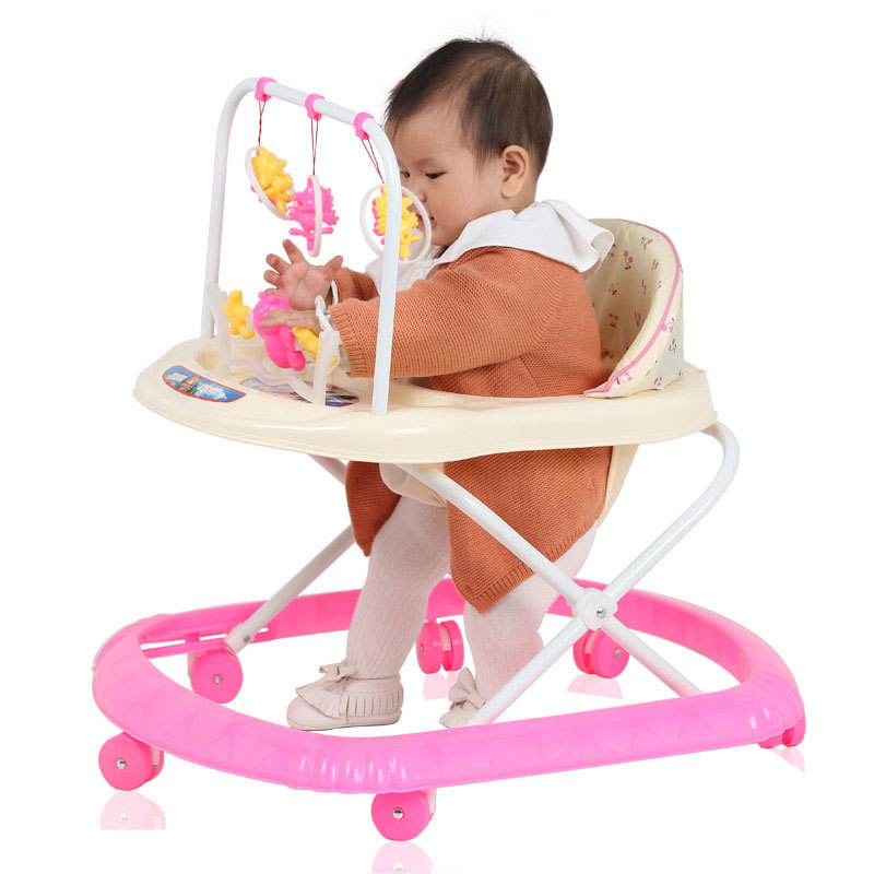 3 Levels Adjustable Folding Baby Walker Musical with Wheels Walker Asisstant Toddler Learning Walking Aid Rocking Horse 6 M~2 Y-in Walkers from Mother ...  sc 1 st  AliExpress.com & 3 Levels Adjustable Folding Baby Walker Musical with Wheels Walker ...