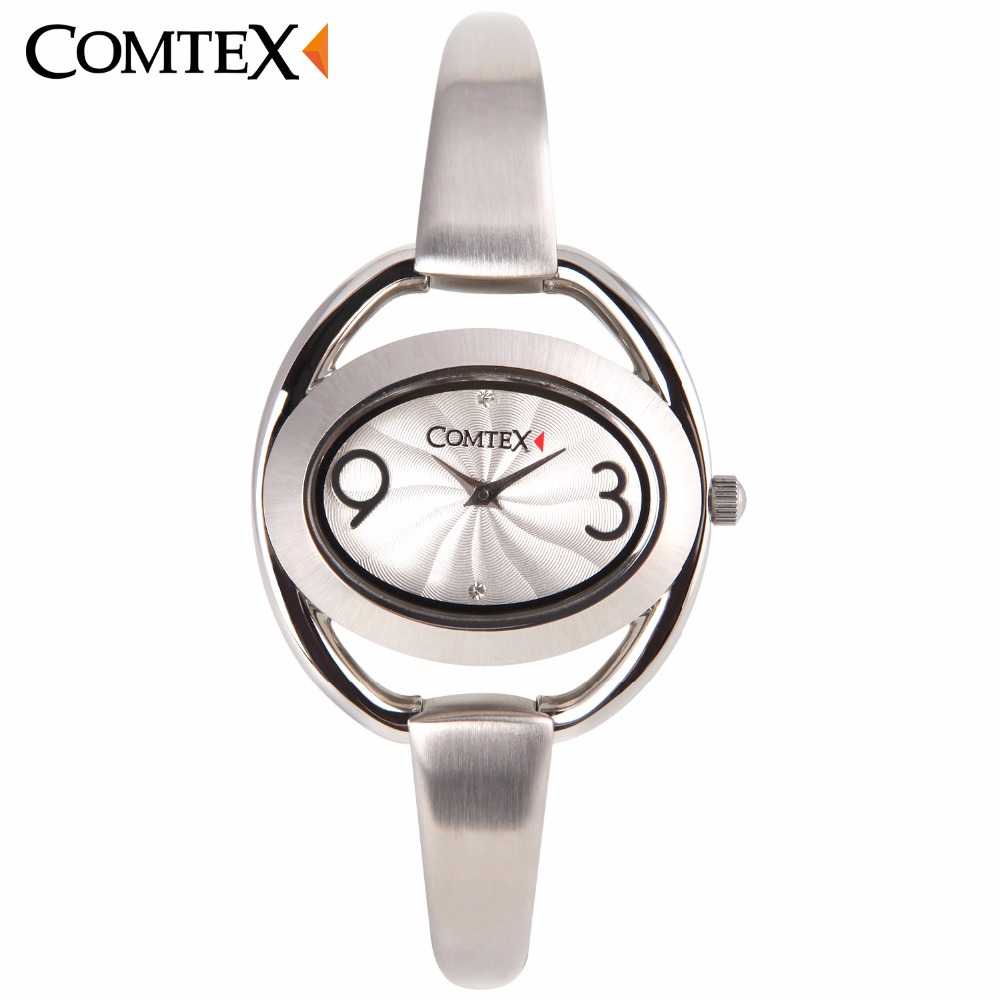 COMTEX New Design Women Watches Unique Hollow Creative Oval Leisure Bracelet Wristwatch Elegant Lady Quartz Clock For Gift 2017 lady gift enmex abstract patterns elegant temperam with simple unique design for young women fashion quartz watches