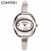 COMTEX New Design Women Watches Unique Hollow Creative Oval Leisure Bracelet Wristwatch Elegant Lady Quartz Clock For Gift