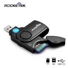 Adaptador de lector de tarjeta de memoria Rocketek usb 3,0 para SD TF micro SD para pc ordenador portátil Accesorios