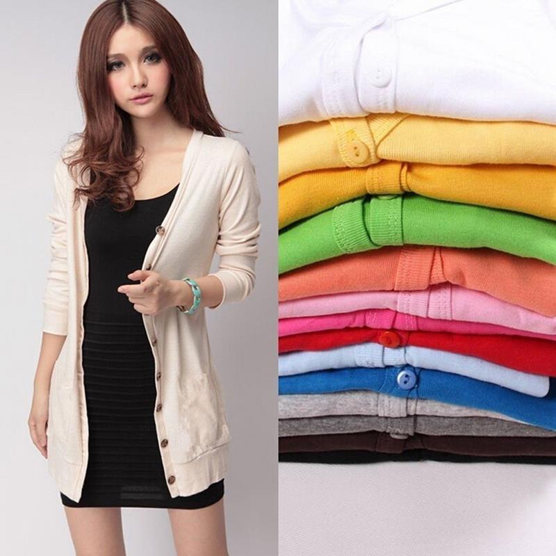 Spring Candy Color Long Sleeve Cute Kawaii Sweater Cardigan Female Women Jacket Women Cardigan Girl Sweater College Style