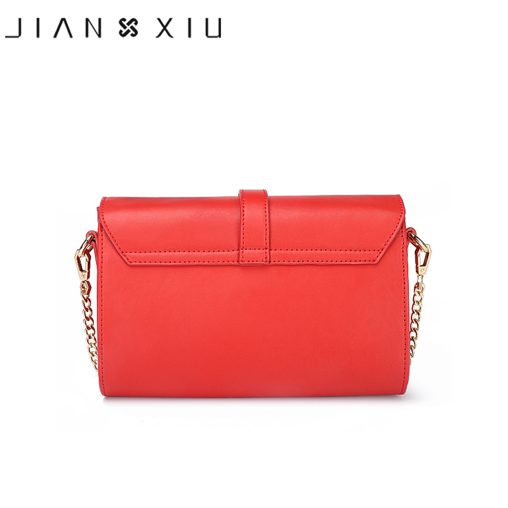 JIANXIU Brand Women Messenger Bags Split Leather Shoulder Crossbody Bag Small Chain Bolsas Feminina Sliod Color Belt Decoration-in Shoulder Bags from Luggage & Bags    3