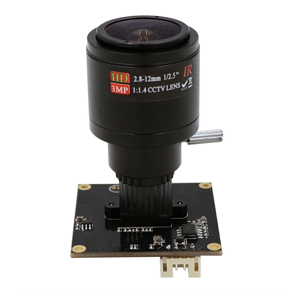 Global Shutter High Speed 120fps M12 Mount 2 8 12mm Varifocal Webcam UVC Plug Play Driverless