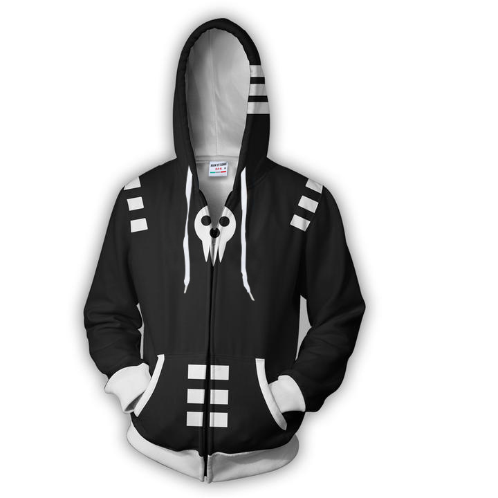 2018 Man 3D Printedanime Soul Eater Costume Black Star Zip Up Hoodie Sweatshirts Casual Cosplay Zipper Outerwear hoodies Hooded