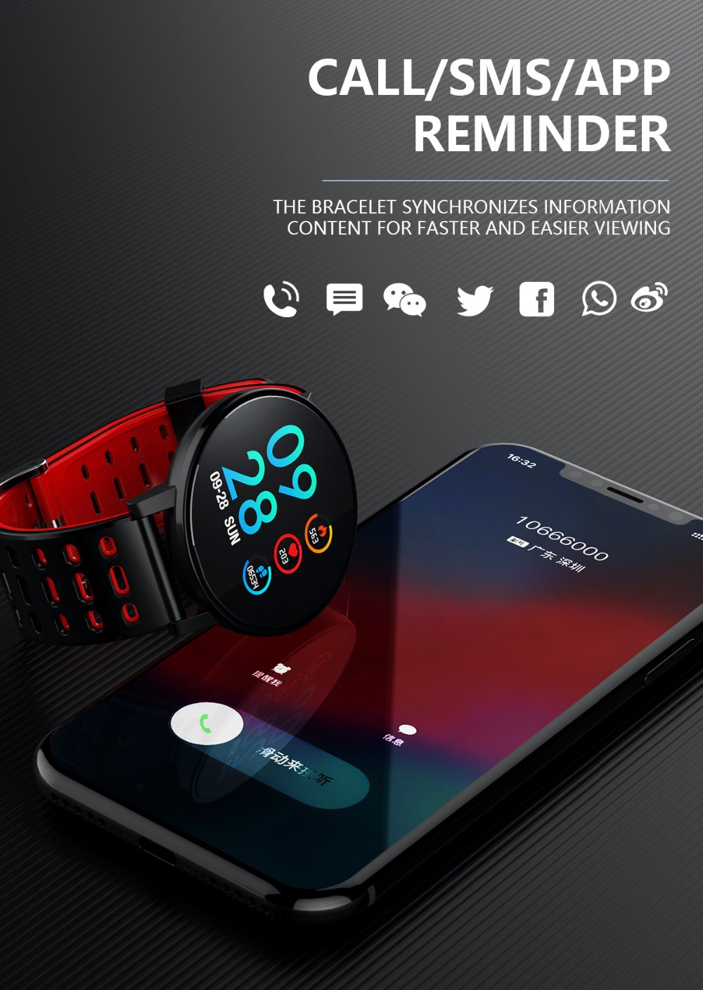 Q9 Smartwatch IP67 Waterproof Wearable Device Bluetooth Pedometer Heart Rate Monitor Color Display Smart Watch For AndroidIOS (10)
