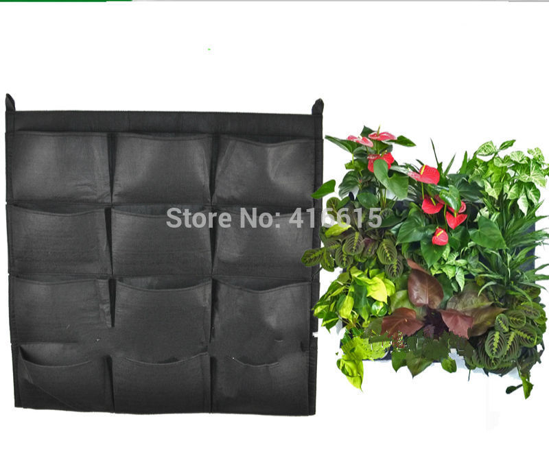 っrecycle Felt Outdoor Vertical Gardening Flower Pots Wall Planter